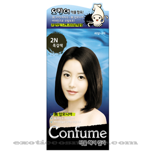 CONFUME SQUID INK HAIR COLOR 2N - BLACK BROWN (NO AMMONIA)