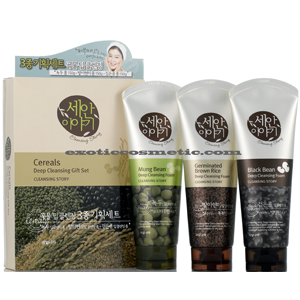 CEREAL CLEANSING STORY FACIAL DEEP CLEANSING FOAM 3 ITEM SET